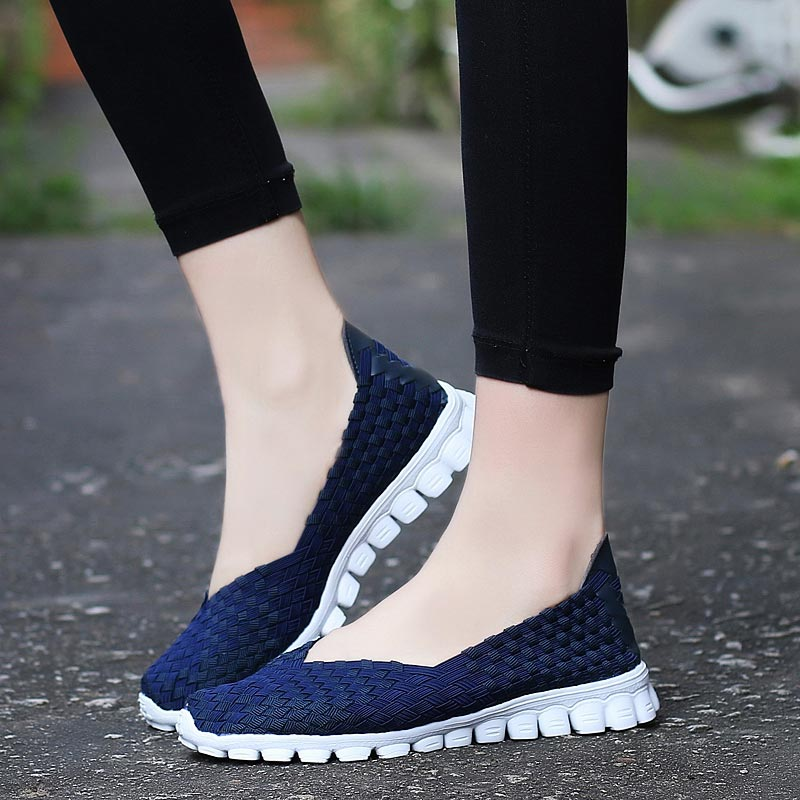 Summer Sport Woman Shoes Tennis Female Running Sneakers Ladies Sports Shoes For Women Trainers Woven Scarpe Donna Blue Gym A-405