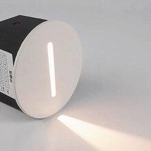 Lampe de mur Led lampe descalier AC85 265V lampe de marche intérieur encastré escalier lampe escalier couloir mur pied lampe appliques