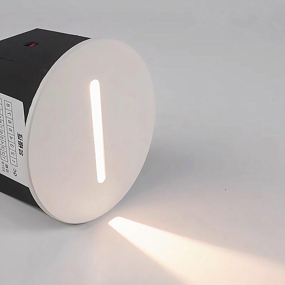 led lampada de parede luz da escada ac85 265v passo luz interior recesso escada lampada escada