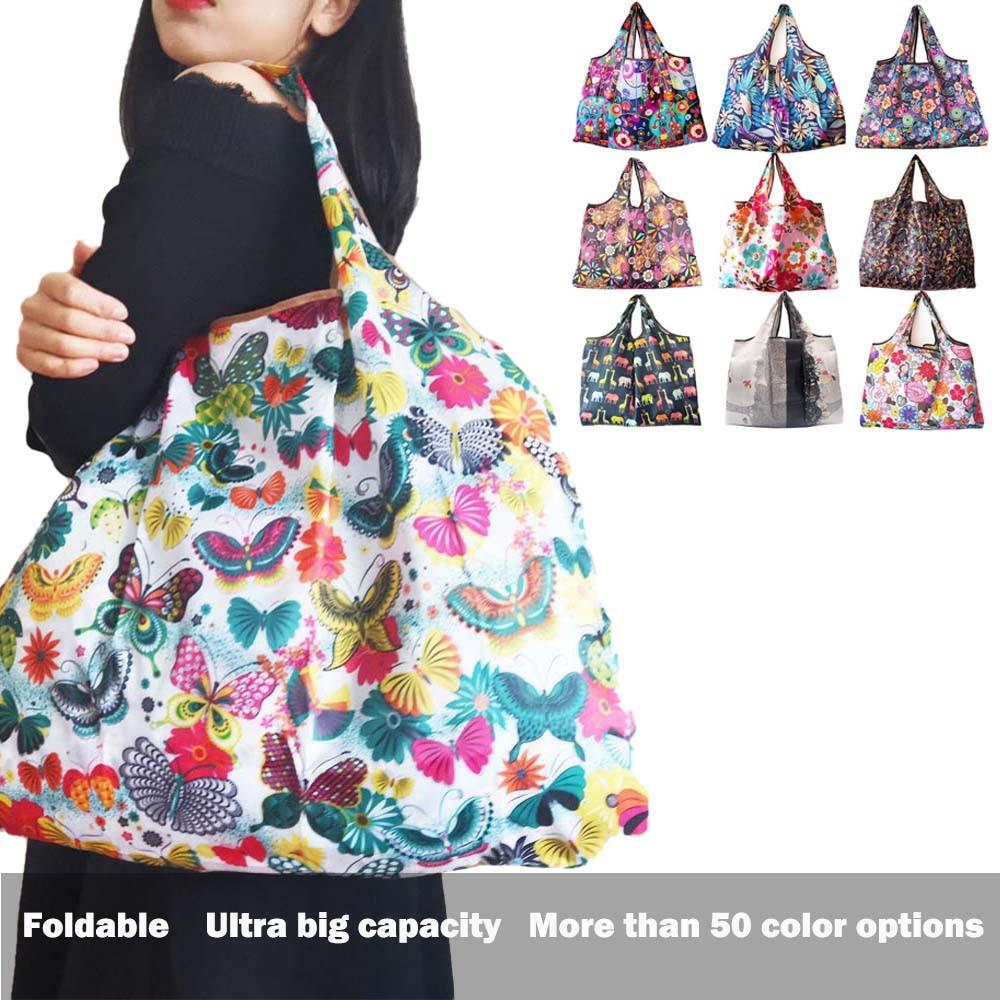 Folding Bag Nylon Shopping Bag Foldable Bag Reusable Bag Big Eco Bag Grocery Bag Eco Friendly Bag Tote Reusable Shopping Bag