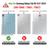 """case samsung galaxy For Samsung Galaxy Tab S6 10.5"""" 2019 Bluetooth Keyboard Case T860 T865 Magnetic Detachable Keyboard with Leather Tablet Cover (2)"""
