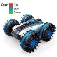 Kuulee 4WD 2.4G Remote Control Amphibious Stunt Car Waterproof Double-sided Driving RC Car