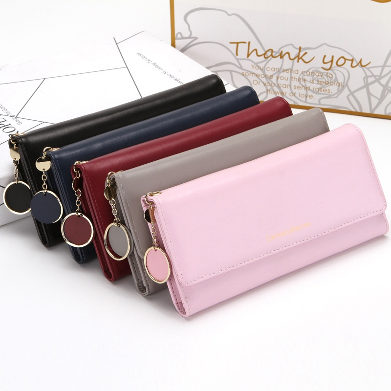 LITTHING 2019 New Fashion Women Wallets Long Style Multi-functional Wallet Purse Fresh PU Leather Female Clutch Card Holder