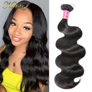Image 1 - Nadula saç perulu vücut dalga İnsan saç 1 parça saç örgü demeti 8 30 inç Remy saç doğal renk ücretsiz kargo