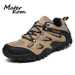 2019 Outdoor Hiking Shoes Men Hard-wearing Non-slip Climb Mountain Boots Breathable Light Travel Trekking Shoes botas tacticas