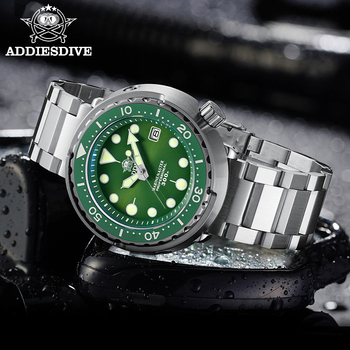 dive ADDIESDIVE Automatic Mechanical Dive Watch Sapphire Crystal 316L Steel Dive Watches Men 300m Automatic Mechanical Men's watch