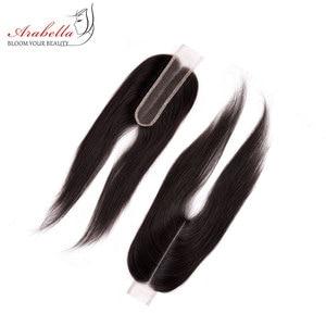 Image 4 - חבילות עם סגירה פרואני ישר שיער חבילות עם 2*6 סגירת רמי שיער טבעי מארג ארבלה סגר עם חבילות