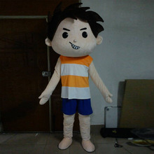 Boy mascot costume cartoon character