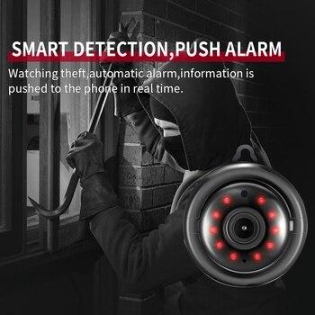 מיני Draadloze WIFI IP מצלמה פנורמי אבטחה בבית Infrarood Nachtzicht Bewakingscamera Sd Sim-kaart ענן אחסון CCTV צג