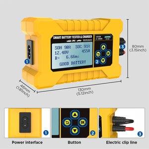 Image 4 - NEW Original AUTOOL BT380 12V CCA2400 Car Battery Tester Battery Charger Tester Analyzer 220V 110V Vehicle Power Bank