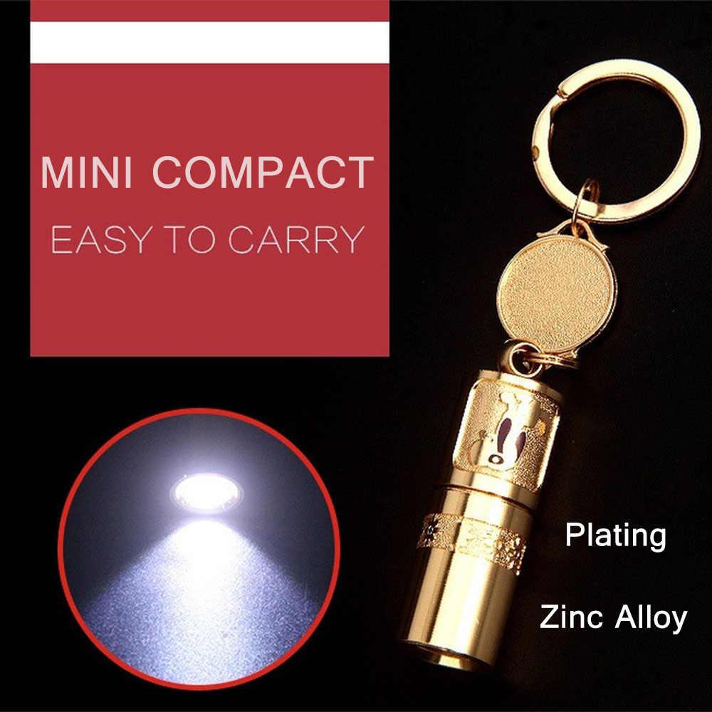 Keychain Flashlight Led Glare Lighting Zinc Alloy Gift Outdoor Lighting Long Range Mini Portable Waterproof Flashlight Gift Flashlights Torches Aliexpress