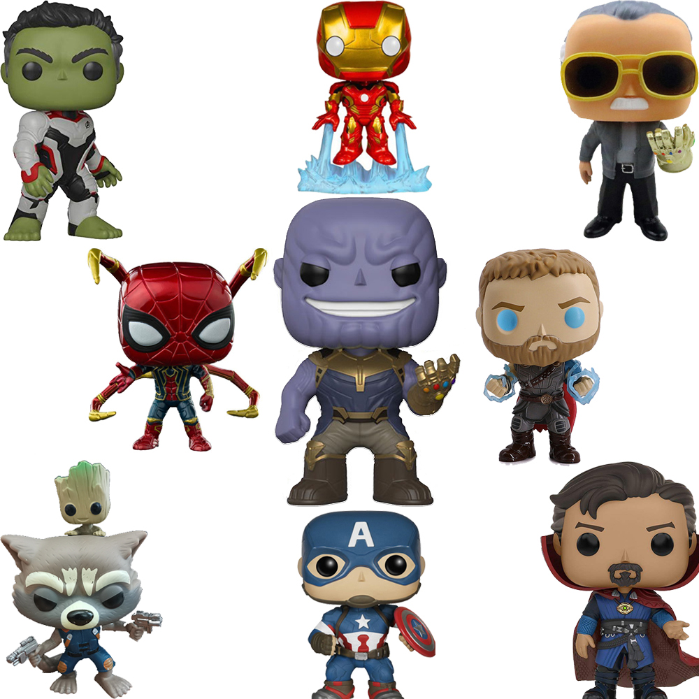 FUNKO POP Marvel Legends Avengers Iron Man Captain America POP Funko PVC Action Figure Collection Originais Birthday Gifts F48