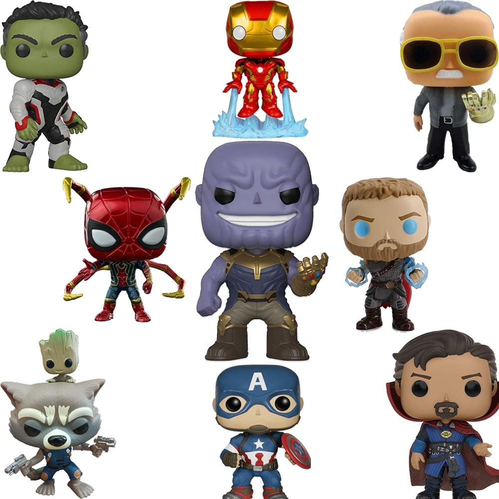 FUNKO POP Marvel Legends Avengers Iron Man Captain America POP Funko PVC Action Figure Collection Originais Birthday Gifts F48