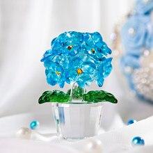 H & D 3,6 pulgadas de flor de cristal sueños Hortensia figurita adorno boda CASA MESA centros de mesa decoración de Souvenir regalo de colección