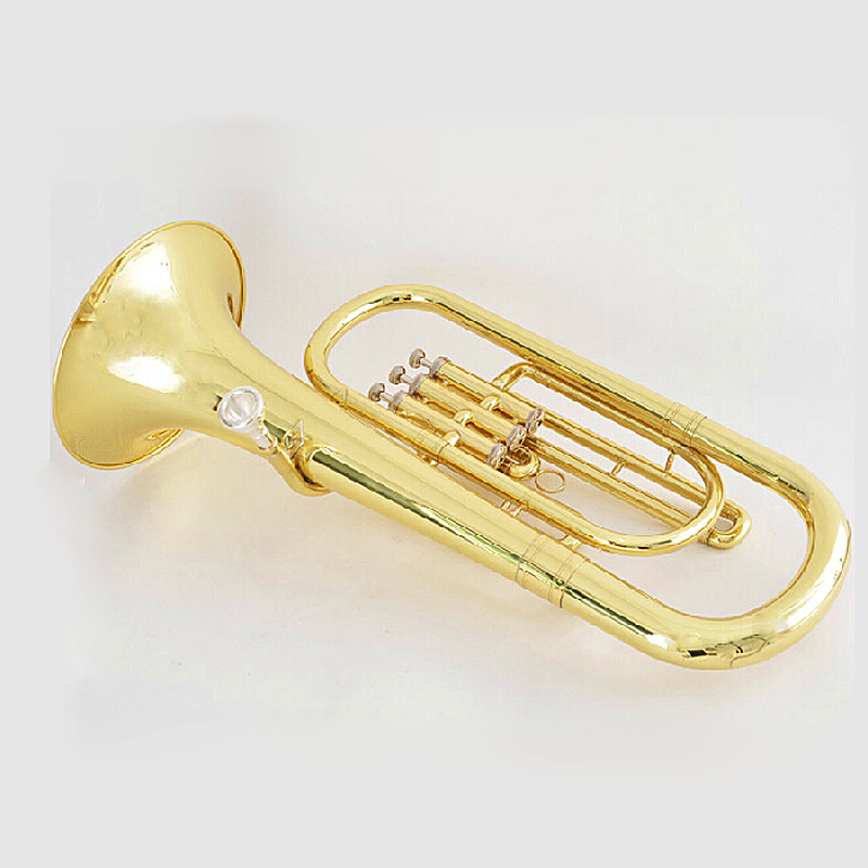 Купить с кэшбэком Bb Baritone Horn musical instruments with ABS Case Mouthpiece Yellow brass baritone Three Pistons
