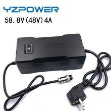 YZPOWER AC100V-240V 58,8 в 4A автоматическое зарядное устройство для литий-ионных аккумуляторов 48 В, набор литий-полимерных аккумуляторов, электрическ...