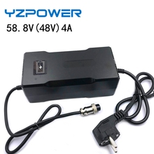 YZPOWER AC100V 240V 58.8V 2.5A 3A 3.5A 4A Auto Batteria Al Litio Caricabatteria Per 48V Li Ion Pacco Batteria Lipo Elettrico strumento