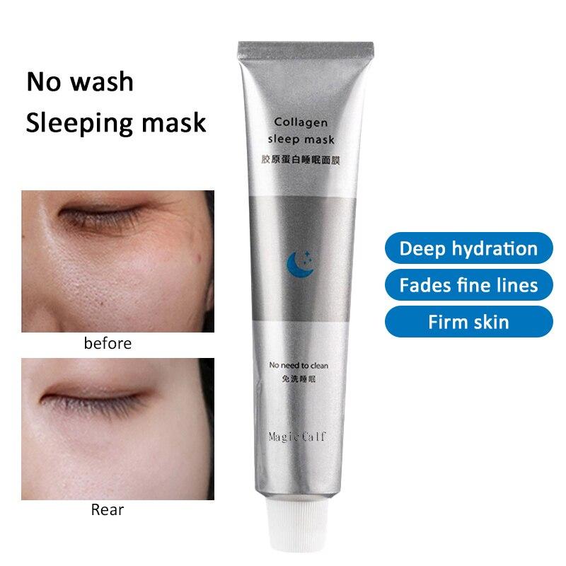 Collagen Sleep Hydrating Face Mask Moisturizing Anti-Aging Whitening Skin Care Revitalizing Cream Sleeping Facial Mask TSLM2