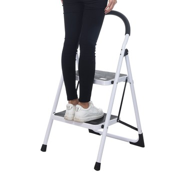 Anti- Slip Folding 2 Step Safety Step Ladder Folding Step Stools With Handle step ladder Folding Step Stool Steel Ladder#S3