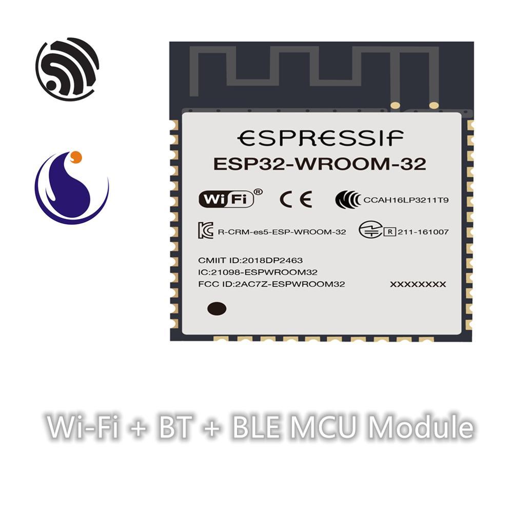 ESP32-WROOM-32 Espressif Systems SoC Dual-core Wi-Fi & BT/ Bluetooth LE Module Serial Port Transparent Transmission Wireless