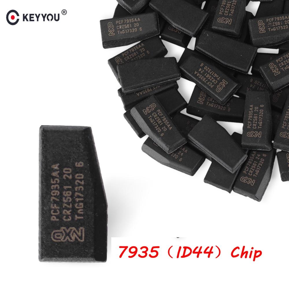 Чип KEYYOU 5x для автомобильного ключа ID44 ID 44 чип PCF7935AA чип иммобилайзера карбоновый для BMW 1 3 5 7 серия транспондер зажигания автомобиля