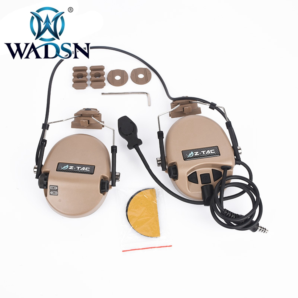 Image 4 - WADSN Sordin Headset Noise Canceling Earphone With FAST Helmet Rail Adapter Set For Military Airsoft Hunting Headphone WZ034-in Tactical Headsets & Accessories from Sports & Entertainment