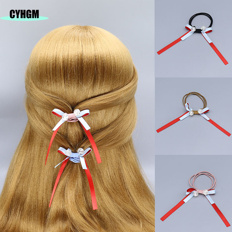 Wholesale Girls Elastic Hair Bands Hair Rubber Band Hair Ties Hair Velvet Scrunchies Pack In Women's Hair Accessories F17-3