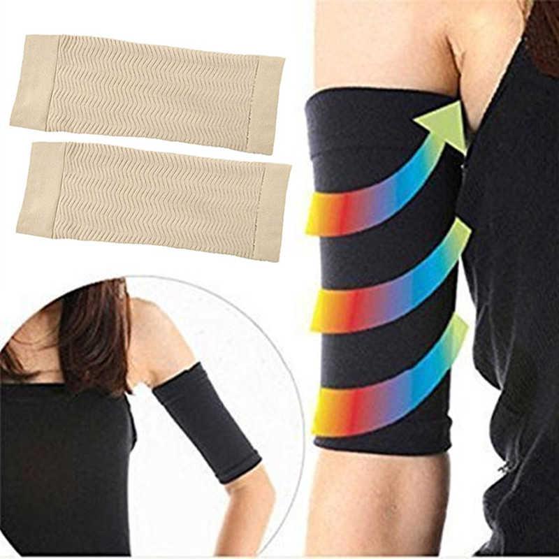 1 paar Arm Ärmeln Gewicht Verlust Dünne Beine ToneUp Arm Gestaltung Ärmeln Abnehmen Fett Buster Schwarz Lift Arm Gürtel Frauen TSLM1