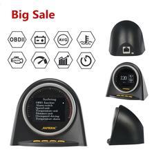 Autool X70 Hud Obd Head Up Display Auto OBD2 Display Speedmeter Brandstofverbruik Meter Motor Gauge Olie Thermometer Code Reader