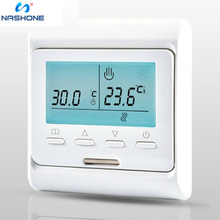Underfloor Heating Thermostat 240V Dual Voltage LCD Display Programmable with Floor Sensor Air Thermostat Warm Floor Controller купить недорого в Москве