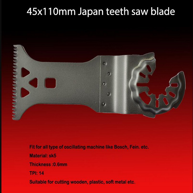 Free Shipping Of 1PC SK5 Steel 45*110mm Japanese Saw Balde For Most Mulitfunctional Oscillating Tools Aftermarket Replace