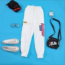 Women Cargo Pants Casual Streetwear Kawaii Powerpuff Girls Harajuku buttercup blossom and bubbles Hip Hop Korean Cargo Trousers
