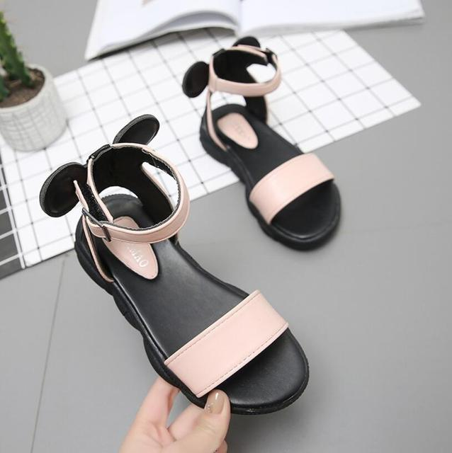 Kids Leather Shoes Girls Wedding Dress Shoes Children Princess Soft Leather Sandals For Girls Casual Dance Shoes Flat Sandals
