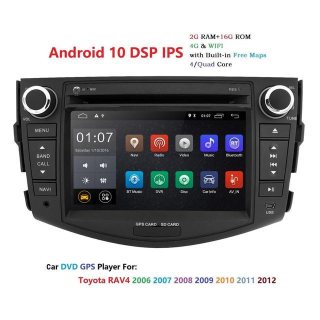 Android 10 car dvd player for Toyota RAV4 Rav 4 2007 2008 2009 2010 2011 2 din 1024*600 gps navigation wifi Quad core