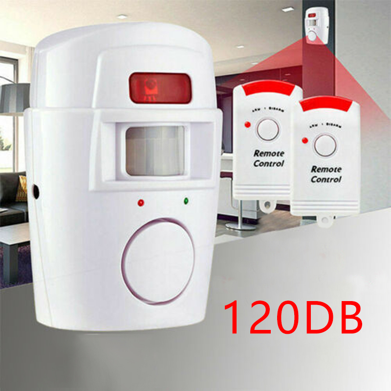 Home Security PIR MP Alert Infrared Sensor Anti-theft Motion Detector Alarm Monitor Wireless Alarm System+ 2 Remote Controller