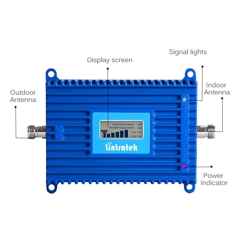 Lintratek 70dB AGC 3G Repeater 2100MHz Band 1 UMTS Mobile Signal - Reservdelar och tillbehör för mobiltelefoner - Foto 2