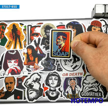 50pcs Classic Movie Fight Club Godfather Mix Graffiti Stickers for Mobile Phone Laptop Luggage Pad Case Skateboard Decal Sticker