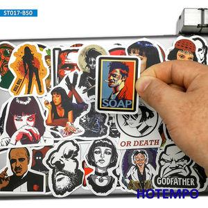 Image 1 - 50pcs קלאסי סרט להילחם מועדון סנדק לערבב גרפיטי מדבקות עבור טלפון נייד מחשב נייד מטען Pad מקרה סקייטבורד מדבקות מדבקה