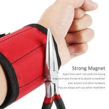 Polyester Magnetische Armband Tragbare Werkzeug Tasche Elektriker Handgelenk Werkzeug Gürtel Schrauben Nägel Bohren Bits Halter Reparatur Werkzeuge