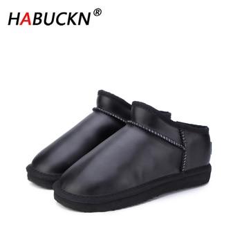 цена на HABUCK 2020 Women Australia Classic Style Snow Boots Winter Warm Genuine Leather Warterproof High-quality Ankle Boots large Size