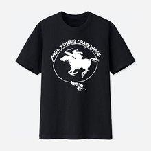 Забавная Мужская хлопковая футболка crazy horse топы с коротким