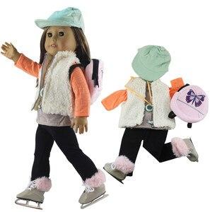 Image 1 - 1 conjunto boneca roupa para 18 polegada boneca americana muitos estilo para a escolha