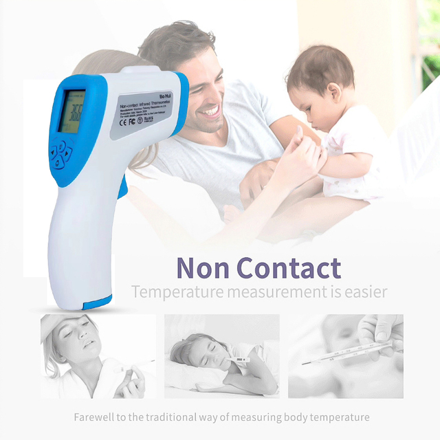 $ US $39.60 Fast delivery baby / adult digital thermometer infrared forehead temperature gun non-contact thermometer Precise