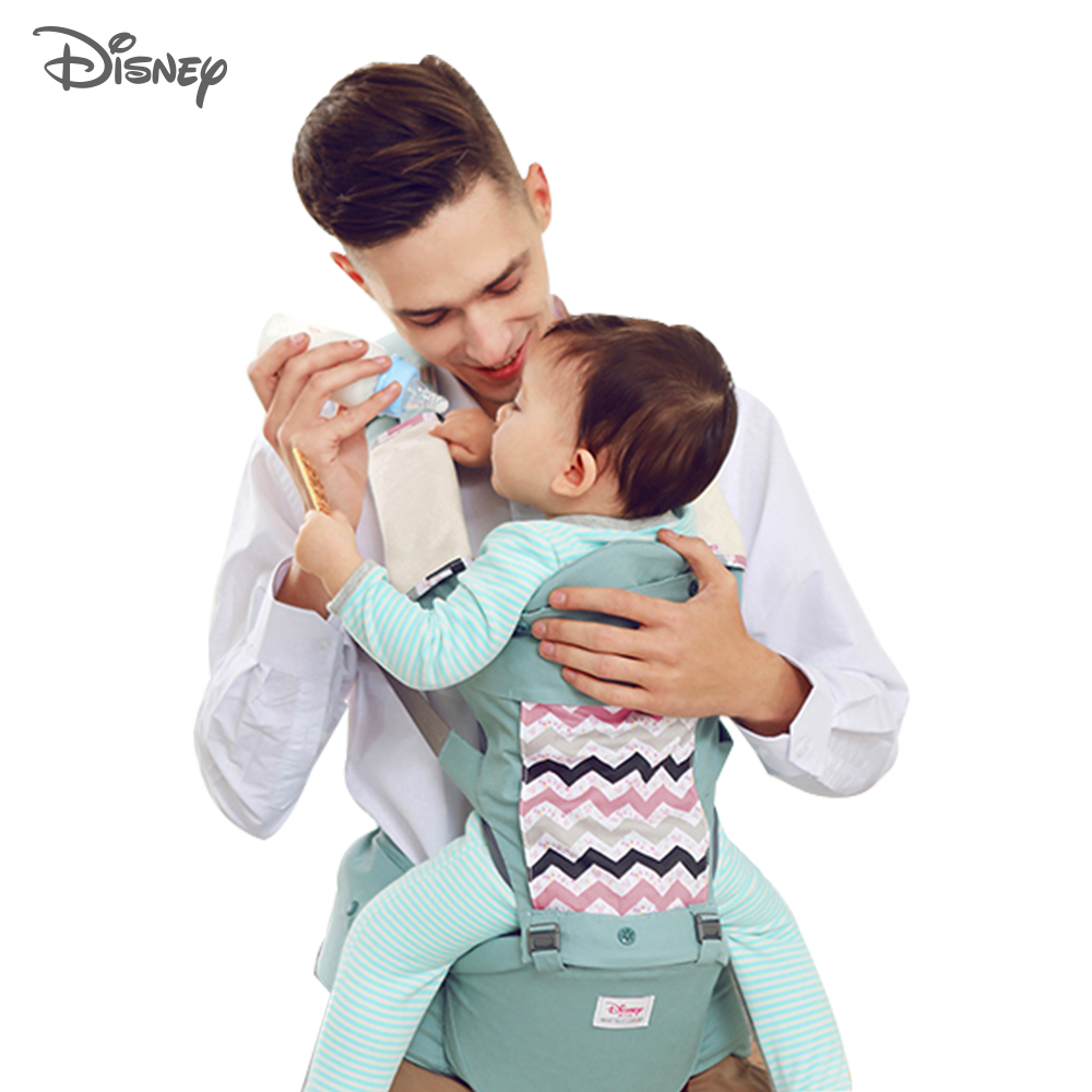Disney Baby Carrier Infant Baby Hipseat Carrier Front Facing Ergonomic Kangaroo Baby Wrap Sling for Baby Travel 0-36M New 2020