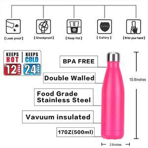 Image 5 - Garrafas de água isoladas de aço inoxidável do vácuo 500ml da parede dobro com logotipo feito sob encomenda