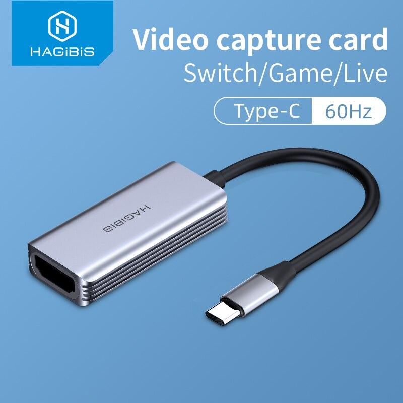 Scheda di acquisizione Video di tipo C hagemporcompatibile con HDMI con USB 1080P HD Record di gioco per PS4/5 Switch Streaming Live telecamera di trasmissione