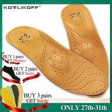 Plantilla ortopédica de cuero de alta calidad KOTLIKOFF para ayuda para el arco del pie plantillas ortopédicas de silicona de 25mm para hombres y mujeres