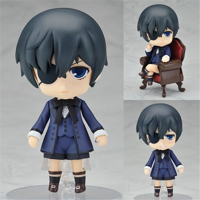 Anime 10CM Black Butler Kuroshitsuji Ciel PVC Action Figure Model Collection Toy Brinquedos