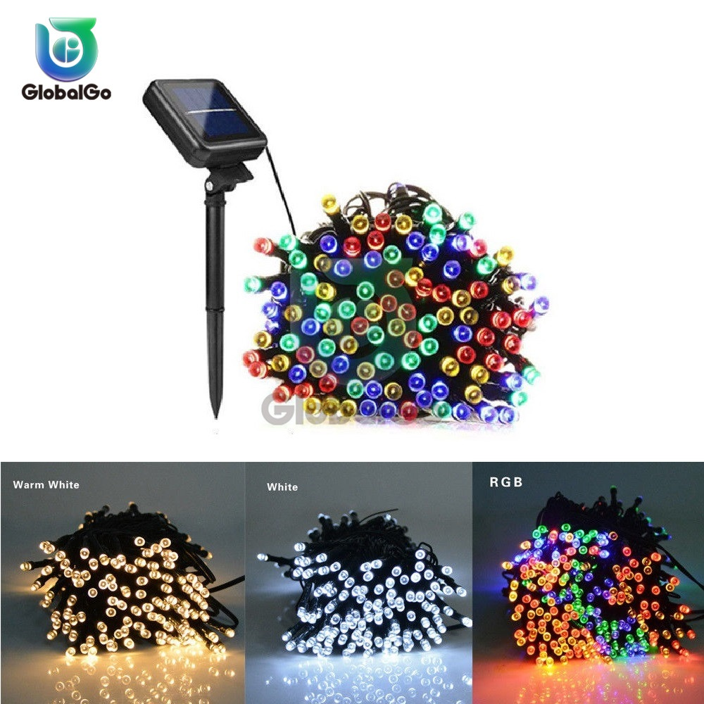 500LED Fairy Garland LED Ball String Lights Waterproof Christmas Tree Wedding Home Decoration Solar Powered LED Light Lamp 52M