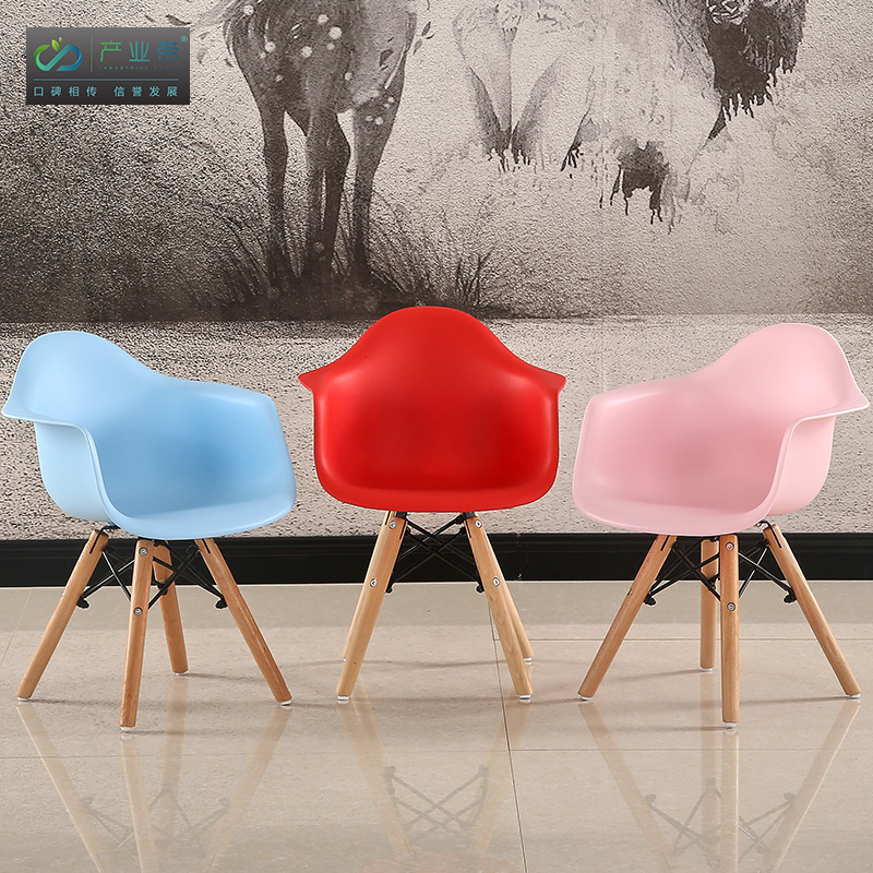 Nordic Children Furniture Kids Stool Plastic Wood Chair Children Toddler Designer Fashion Kids Chair Home Furniture Dropshipping